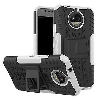 Hybrid Case 2teilig Outdoor Weiß für Motorola Moto G5S Plus Tasche Hülle Cover