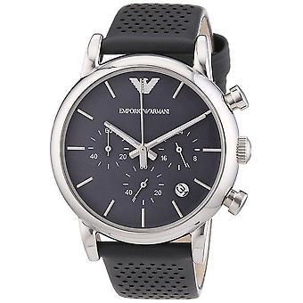 Emporio Armani męskie chronograf zegarek szary pasek Dial szary AR1735