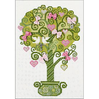 Tree Of Happiness Counted Cross Stitch Kit-8.25