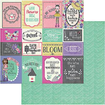 Julie Nutting Seeds Of Kindness Double-Sided Cardstock 12X12-Be Kind