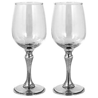 Vogue Pewter Wine Glass 350ml - Set of 2