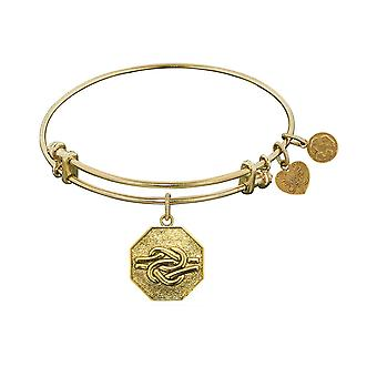Stipple Finish Brass Sailor's Knot Angelica Bangle Bracelet, 7.25