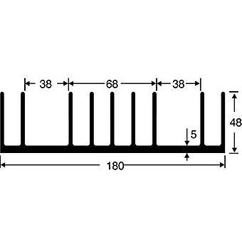 Heat sink 0.65 C/W (L x W x H) 100 x 180 x 48 mm Fischer Elektronik SK 53 100 SA