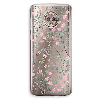 Motorola Moto G6 Transparent Case - Dainty flowers
