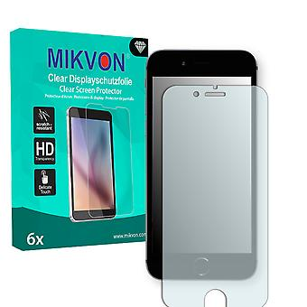 Apple iPhone 6 Screen Protector - Mikvon Clear (Retail Package with accessories) (intentionally smaller than the display due to its curved surface)