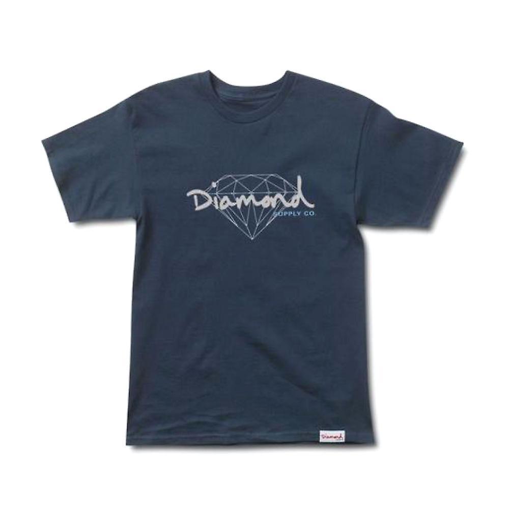 Diamond Supply Co Brilliant Script T-shirt Navy