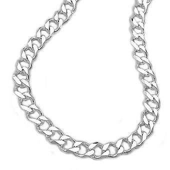 Open curb chain diamond cut silver 925