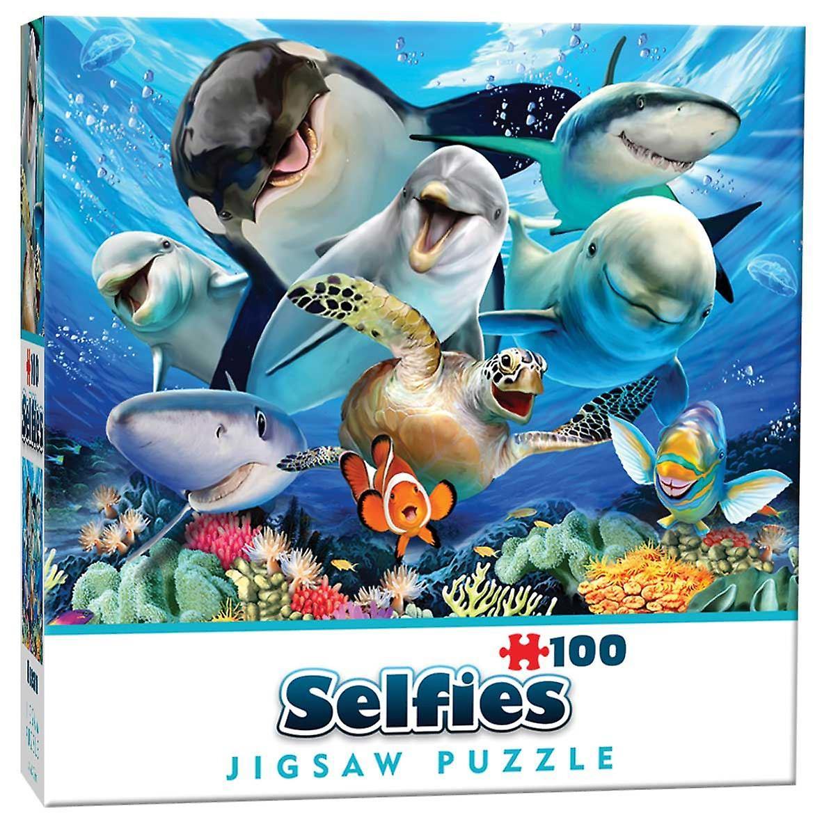 Ocean Selfie Mini  Jigsaw Puzzle (100 Pieces)