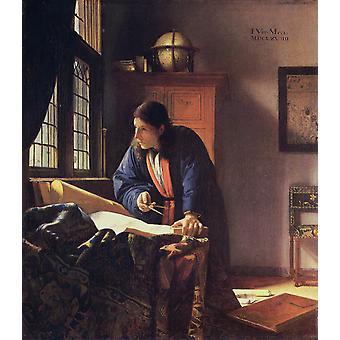 The Geographer qr, Johannes Vermeer, 53x 46.6 cm
