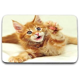 i-Tronixs - Cat Printed Design Non-Slip Rectangular Mouse Mat for Office / Home / Gaming - 15
