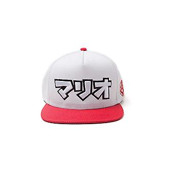 Super Mario Bros japanische Mario Logo Snapback Baseball Cap grau/rot