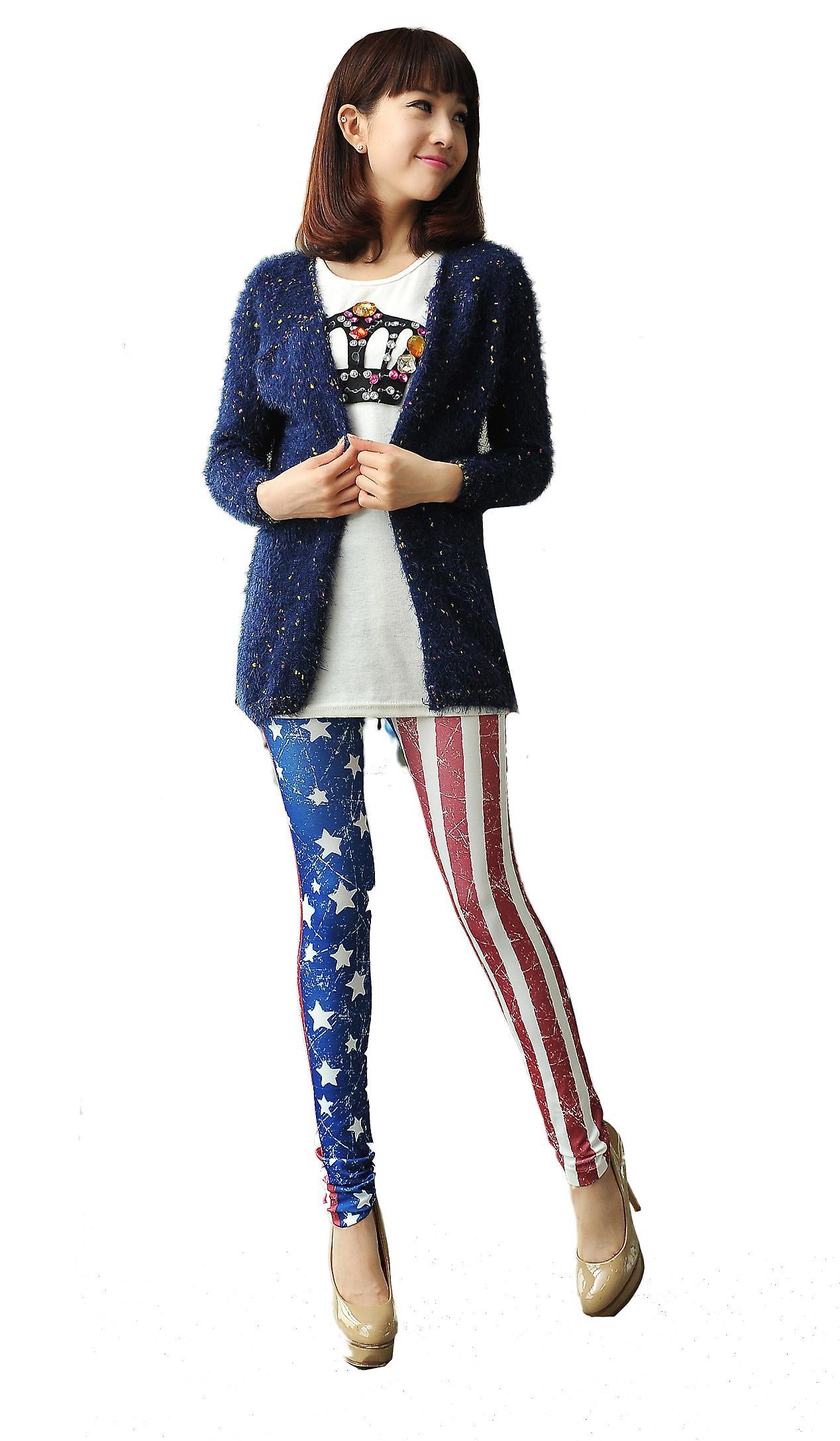 Waooh - moda - polainas patrón bandera americana vintage