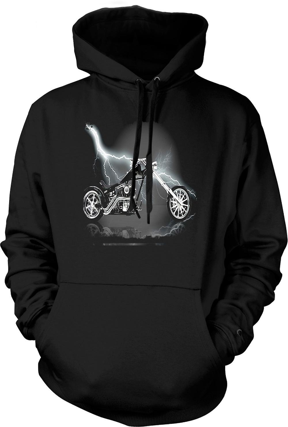 Mens Hoodie - Chopper Biker Hog
