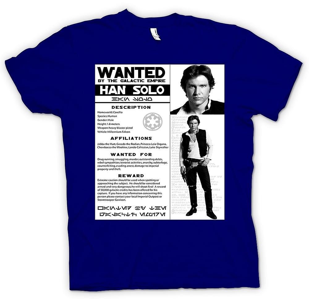 Mens T-shirt - Star Wars Han Solo Wanted - Poster