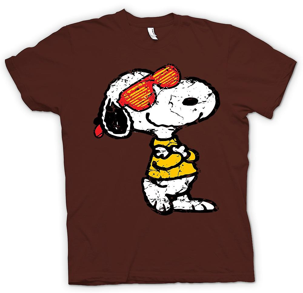 Mens T-shirt-Snoopy mit Cool Shades - lustig