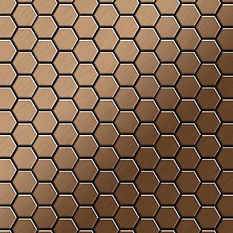 Mosaïque en métal massif Titane ALLOY Honey-Ti-AB
