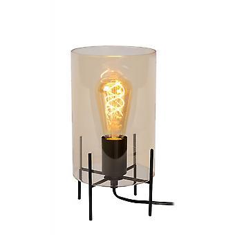 Steffie яйца lucide современные трубки стеклянные янтаря и черный таблица лампа