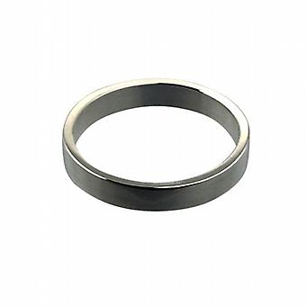 18ct White Gold 3mm plain flat Wedding Ring Size I