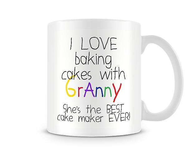 I Love Baking Cakes With Granny Mug