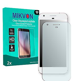Google Pixel XL Screen Protector - Mikvon Clear (Retail Package with accessories) (reduced foil)