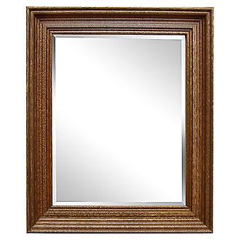 Yttermått 27x32 cm, spegel i guld