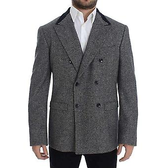 Dolce & Gabbana Gray Wool Double Breasted Blazer -- SIG1502149