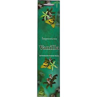 20 Sticks Incense In Flat Pouch Pack Room Fragrance Aroma Pack of 6 Vanilla (09100180)
