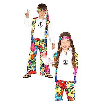 Childrens jaren 1970 hippie Fancy Dress kostuum