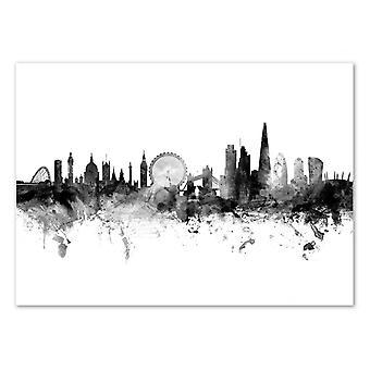Art-Poster - London England Skyline - Michael Tompsett 50 x 70 cm