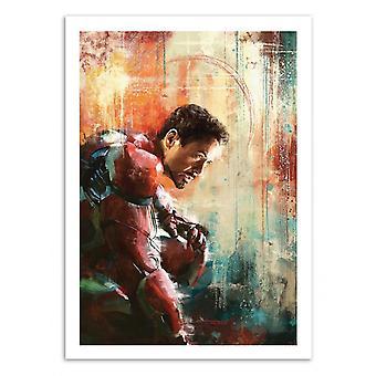 Konst-affisch-Iron Man-Wisesnail 50 x 70 cm