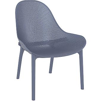 Aéroport7 - France Chaise Sky Lounge  Gris foncé (Grey noir) Chaises de jardin