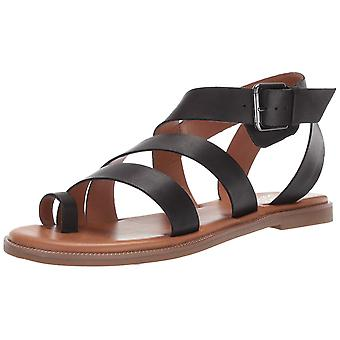 Franco Sarto Womens KEHLANI Leather Open Toe Casual Ankle Strap Sandals
