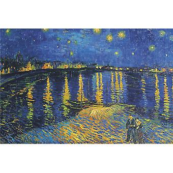 Poster - Studio B - 24x36 VanGogh - Starlight Over Rhone (La Nuit Etoilee) Wall Art CJ3741