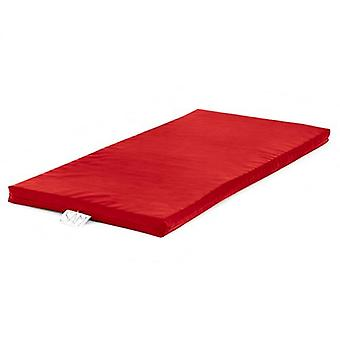 Children's Faux Leather Foam Nap Mat with Name Tag - Red