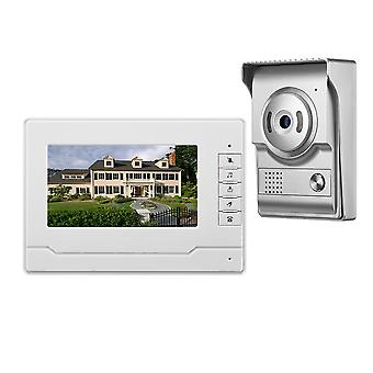 7 inch kleur scherm video deurbel intercom 4 Wired video deur telefoon HD camera voor thuis verbetering