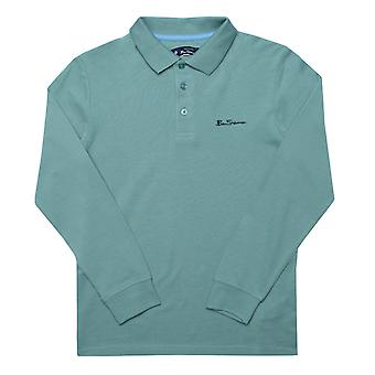 Infant Boys Long Sleeve Polo Shirt in Green