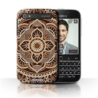 STUFF4 Case/Cover for Blackberry Classic/Q20/Floral/Sepia/Mandala Art