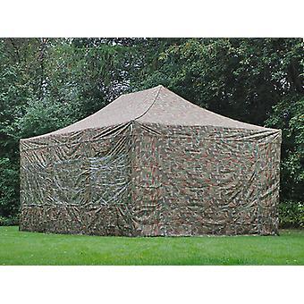 Faltzelt FleXtents Easy up pavillon Xtreme 4x6m Camouflage, mit 8 Seitenwänden