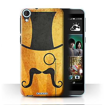 STUFF4 Case/Cover for HTC Desire 820q Dual/Top Hat/Monocle/Retro Moustache