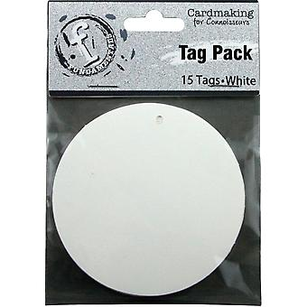 Fundamentals Tags 15/Pkg-Medium cirkel/FNT05 White