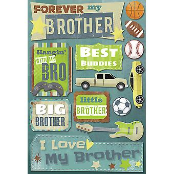 Brother Cardstock Stickers 5.5