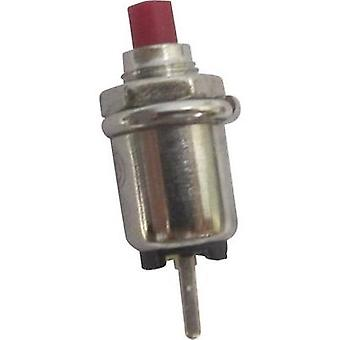 Pushbutton 125 Vac 0.5 A 1 x Off/(On) SCI R13-81A-05 RED ACTUATOR momentary 1 pc(s)