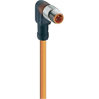 Lumberg Automation 11324 RKMWV 3-06/2 M Actuator-Sensor Connection Line, M8 Connector, Straight Orange