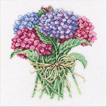 Hydrangea Bouquet Counted Cross Stitch Kit-8