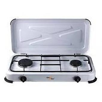 Comgas 2 burner gas stove with cover. (Garden , Camping , Kitchen)