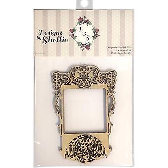 Designs By Shellie Wood Embellishments 4/Pkg-Scroll Frame, 5.5