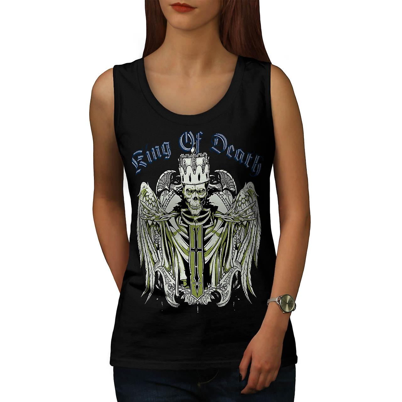 King Of Death Thrones Dead Skull Women Black Tank Top | Wellcoda