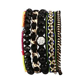 Rocker chick layered bracelet