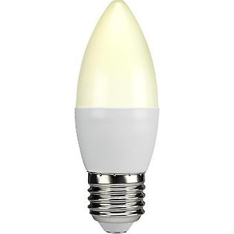 LED E27 Candle 6 W = 40 W Warm white (Ø x L) 38 mm x 105 mm EEC: A+ Sygonix 1 pc(s)