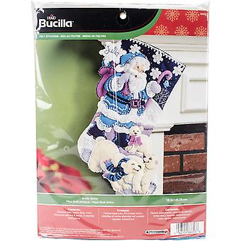 Arctic Santa Stocking Felt Applique Kit-18